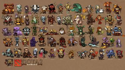 Dota 2 Heroes theme of Games