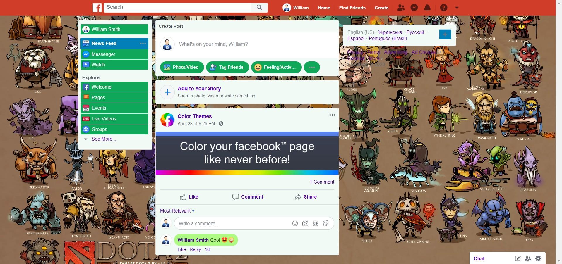 Dota 2 Heroes screenshot of Games