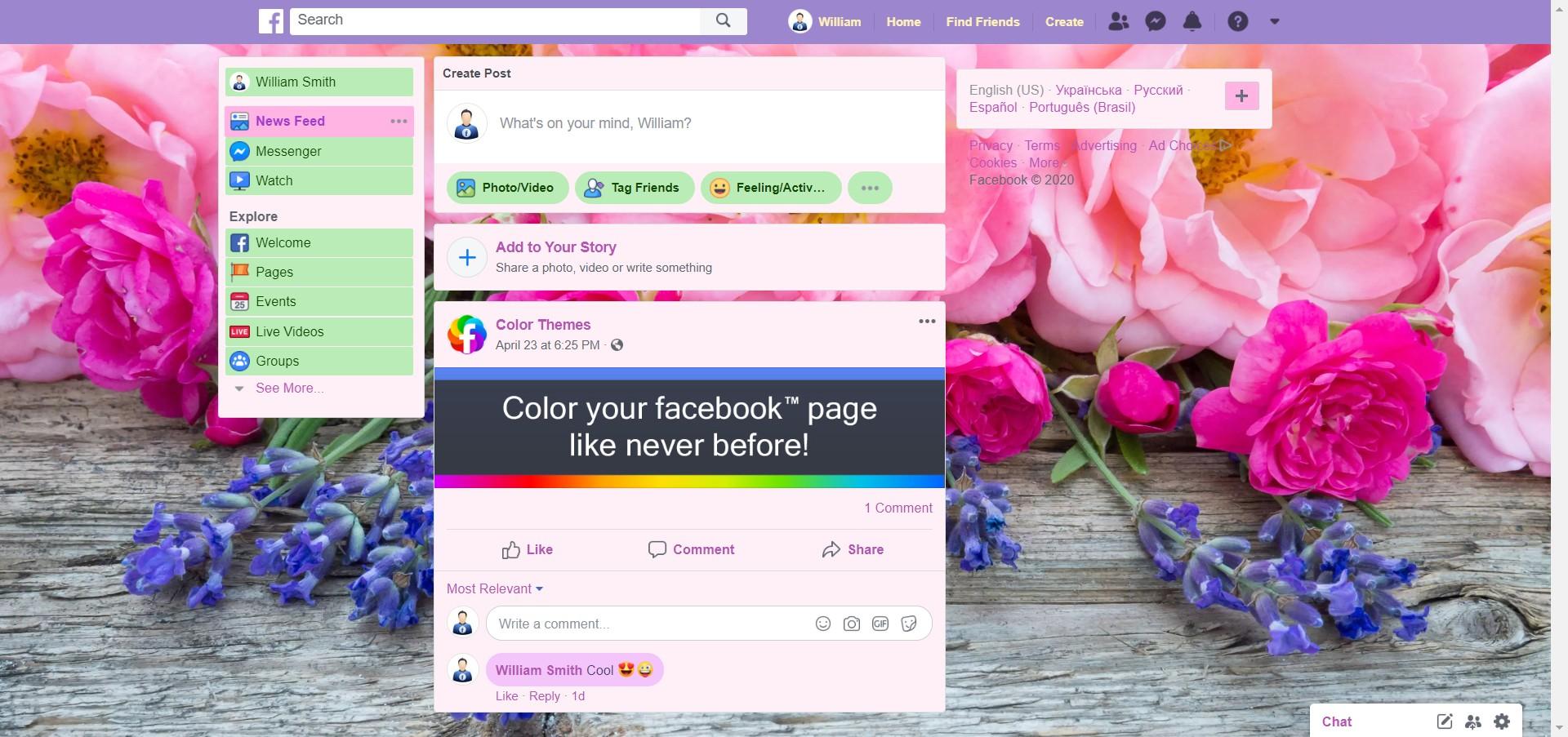 Wildflowers screenshot of Flowers