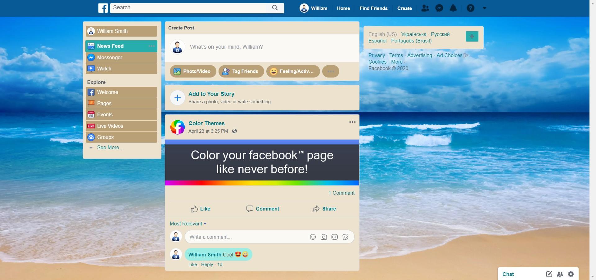 Sea beach screenshot of Travel